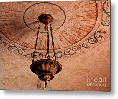 Spanish Lamp Metal Print by Lawrence Burry