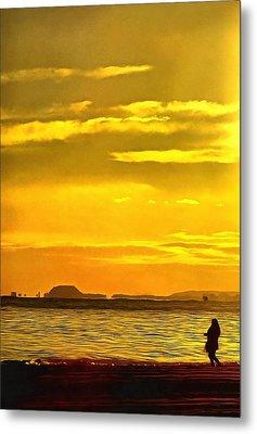 Spanish Marine Sunset Metal Print by Mick Flynn