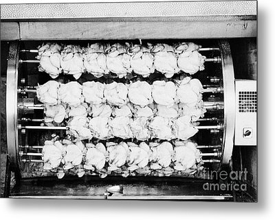 spanish rotisserie chicken oven Cambrils Catalonia Spain Metal Print by Joe Fox