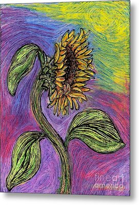 Spanish Sunflower Metal Print by Sarah Loft