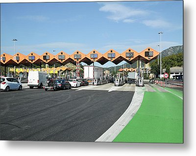 Spanish Toll Booths Metal Print by Photostock-israel