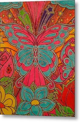 Sparkle Butterfly Metal Print by Erica  Darknell