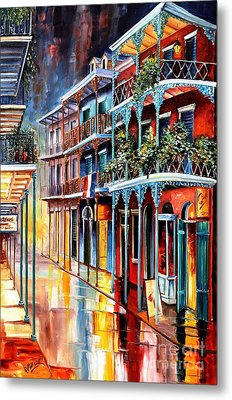 Sparkling French Quarter Metal Print by Diane Millsap