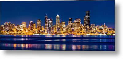 Sparkling Seattle Metal Print by Alexis Birkill