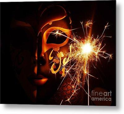 Sparklings Of Venetian Mask Metal Print