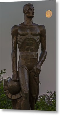 Sparty And Moon Metal Print