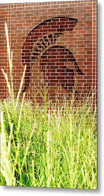 Sparty On The Wall Metal Print