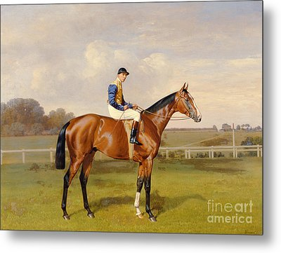 Spearmint Winner Of The 1906 Derby Metal Print by Emil Adam