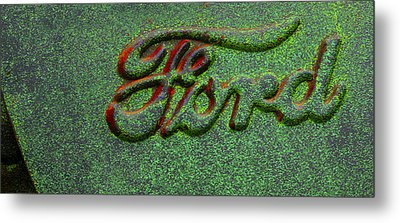 Speckled Ford Metal Print by Jean Noren