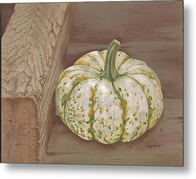 Speckled Gourd Metal Print by Tracy Meola