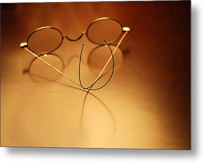 Spectacles At Rest Metal Print by Mary Beth Landis