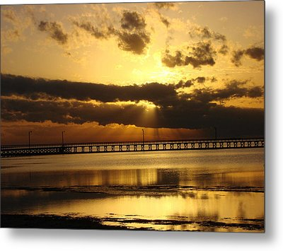 Metal Print featuring the photograph Spectacular Sunrise Two by Linda Cox
