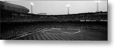 Spectators In A Baseball Park, U.s Metal Print by Panoramic Images