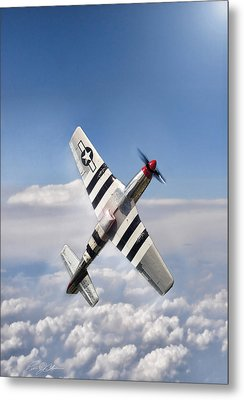 Speed Climb P-51 Metal Print by Peter Chilelli