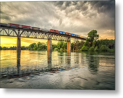 Speeding Reflections Metal Print by Randy Wood