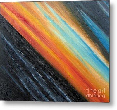 Metal Print featuring the painting Speedy Sunset by Tiffany Davis-Rustam