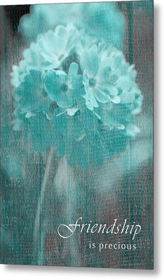 Sphere Floral - Gr13tq - Frienship Metal Print by Variance Collections