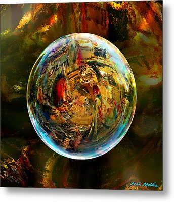 Sphere Of Refractions Metal Print by Robin Moline