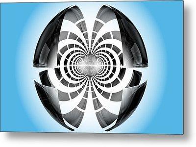 Metal Print featuring the digital art Spheroid by GJ Blackman
