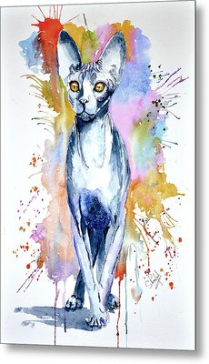 Sphinx Cat Metal Print