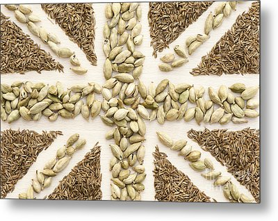 Spice Flag Metal Print by Anne Gilbert