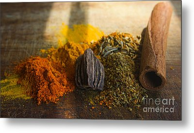 Spice Metal Print by Jan Wolf