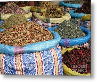 Spices At The Souk Metal Print by Sophie Vigneault