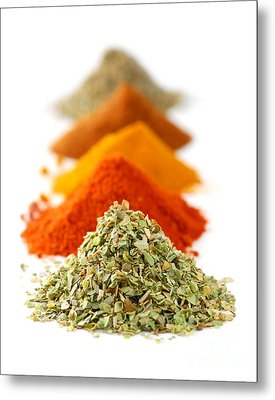 Spices Metal Print by Elena Elisseeva