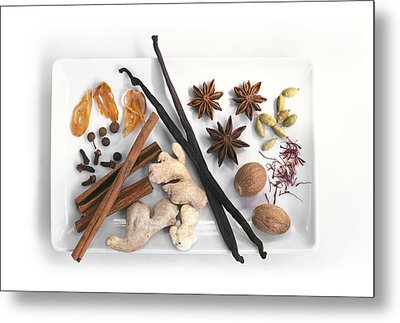 Spices Metal Print by Science Photo Library