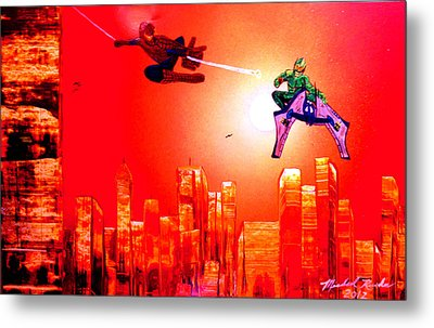 Metal Print featuring the painting Spider Man  by Michael Rucker