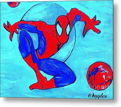 Spider-man  Metal Print by Saundra Myles