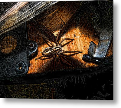 Metal Print featuring the digital art Spider Of The Midnight Lite by Robert Rhoads