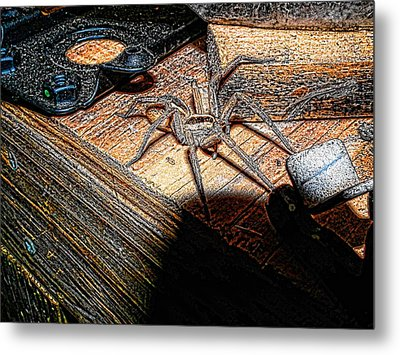 Metal Print featuring the digital art Spider On The Move by Robert Rhoads
