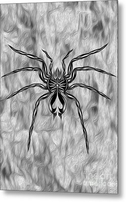 Spider Tatoo Metal Print by Gregory Dyer