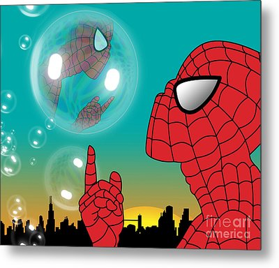 Spiderman 4 Metal Print