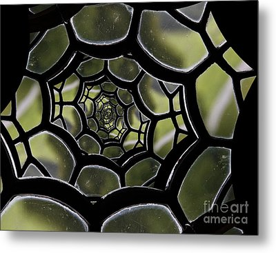 Metal Print featuring the photograph Spider's Web. by Clare Bambers