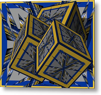 Spike Cubed 3d Metal Print by Brian Johnson