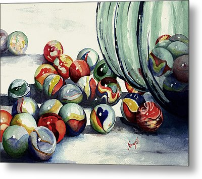 Spilled Marbles Metal Print by Sam Sidders