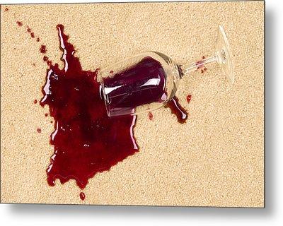 Spilled Wine On Carpet Metal Print by Joe Belanger