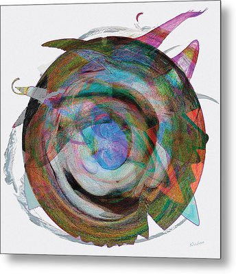 Metal Print featuring the digital art Spin One by David Klaboe