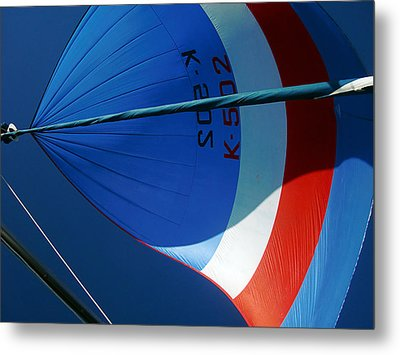 Spinnaker Flying Metal Print by Tony Reddington