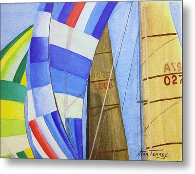 Spinnakers Metal Print