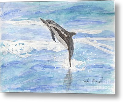 Spinner Dolphin Metal Print by Pamela  Meredith