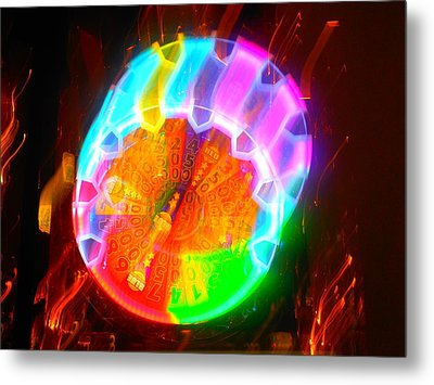 Spinning Orb In The Cosmos Metal Print by James Welch
