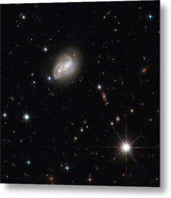 Spiral Galaxies Interacting Metal Print by Science Source