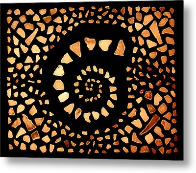 Metal Print featuring the mixed media Spiral by Kjirsten Collier