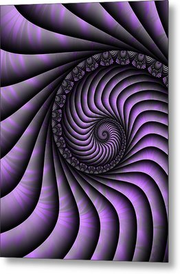 Spiral Purple And Grey Metal Print by Gabiw Art