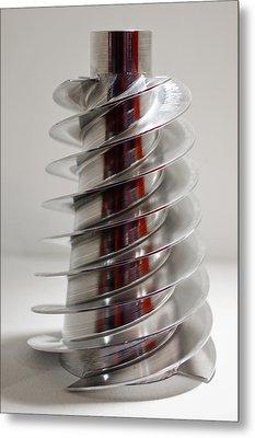 Spiral Screw Metal Print by Mark Williamson
