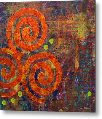 Spiral Series - Railing Metal Print by Moon Stumpp