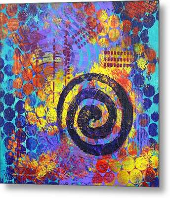 Spiral Series - Voice Metal Print by Moon Stumpp
